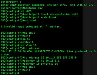 Cisco IOU HSRP Configuration