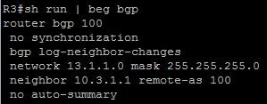 BGP neighbor statements