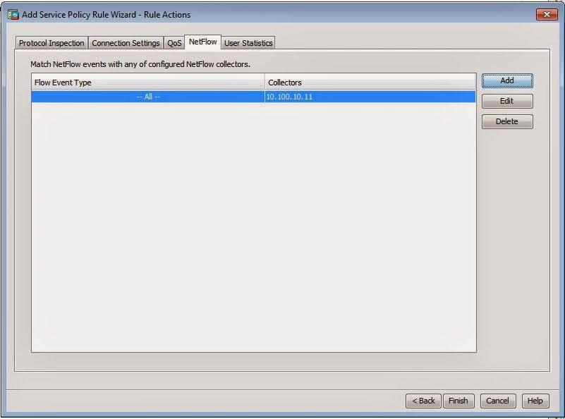 Finisherd Netflow Configuration