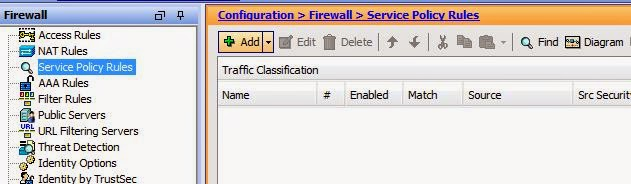 Create Service Policy Cisco ASA