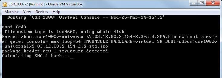 Installing CSR1000v in VirtualBox