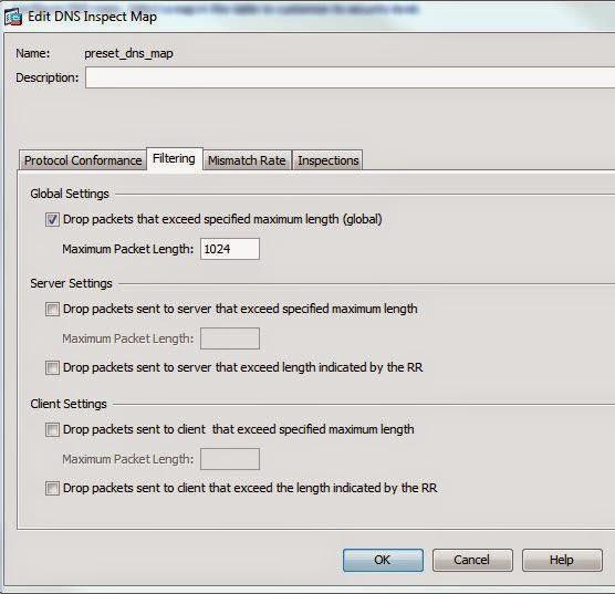 Cisco ASA DNS inspect default map