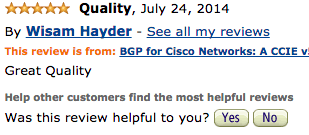 BGP for Cisco Networks feedback