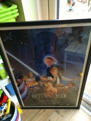 Vintage 1983 Stare Wars Return of the Jedi poster