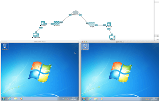 Windows 7 host running in UNetLab