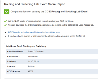 CCIE results