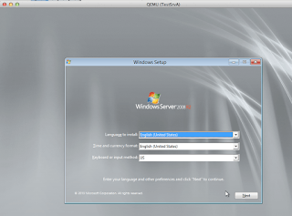Windows 2008R2 running in UNetLab