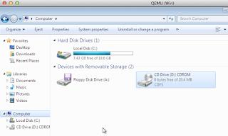 Qemu CD ROM, how to get files into Qemu guest